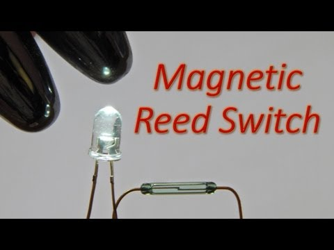 Simple Reed Switch (Magnetic Switch) Circuit to Glow a White LED
