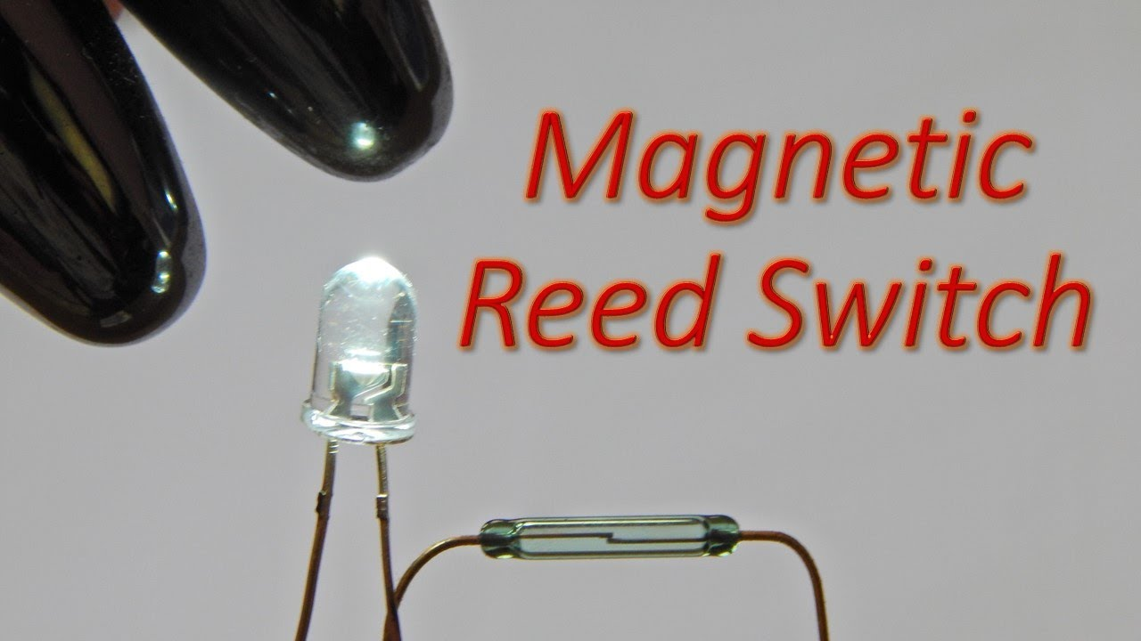 simple reed switch magnetic switch circuit to glow a white led youtube [ 1280 x 720 Pixel ]