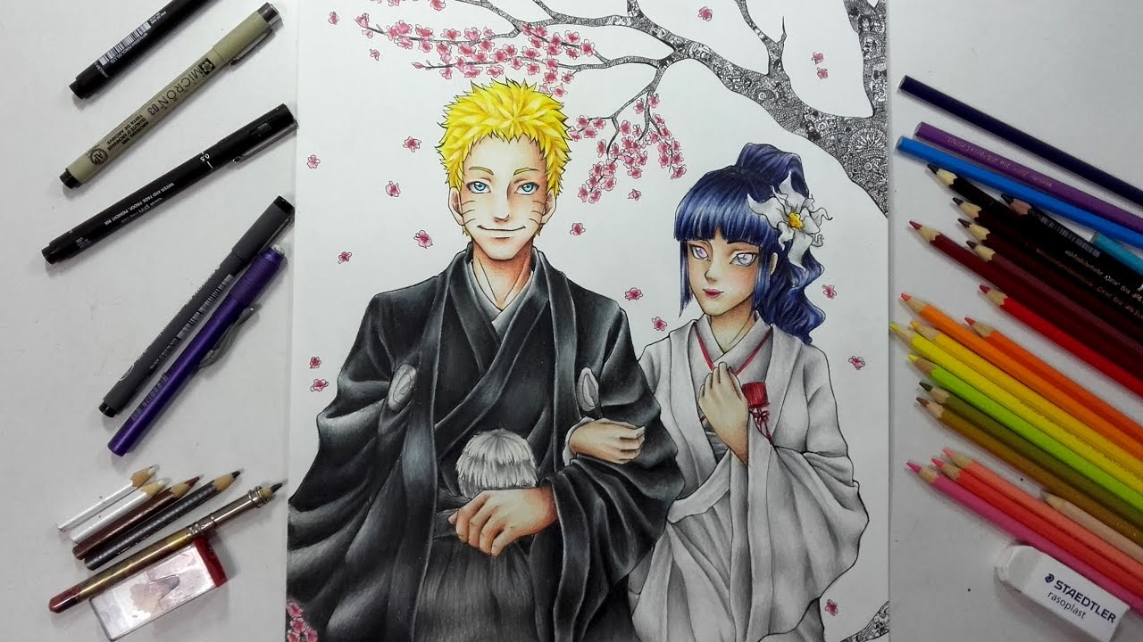 Naruto Hinata Naruto Fanart Speed Drawing Youtube