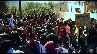 A rossz körülmények miatt tüntettek az illegális bevándorlók Leszboszon