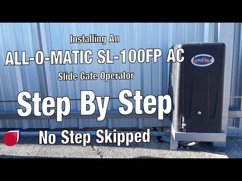 Installing a All-O-Matic SL100DC gate operator Step By Step | SC0053