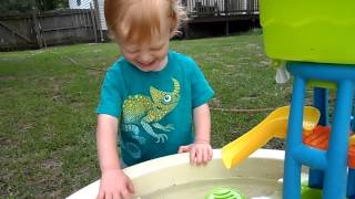 Caedmon Playing with the Water table