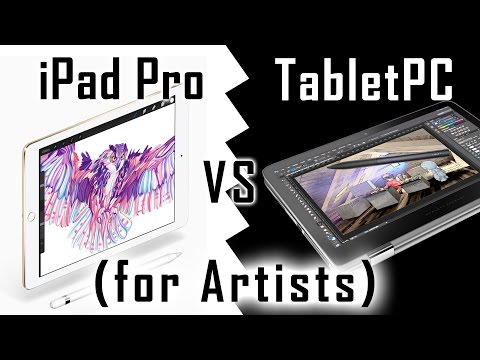 iPad Pro or a Tablet PC for an artist? Pencil responsiveness tested