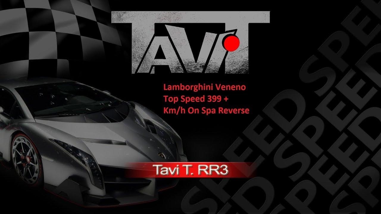 Real Racing 3 RR3 Lamborghini Veneno Top Speed 399 + Km/h