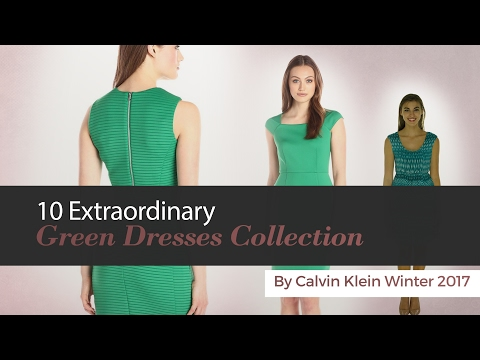 10 Extraordinary Green Dresses Collection By Calvin Klein Winter 2017. http://bit.ly/2MFPP4N