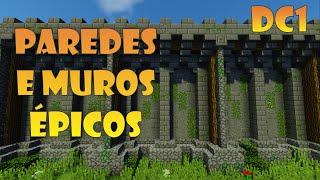 Como fazer paredes e muros mais bonitos! - Dicas de Construção #1 - Minecraft