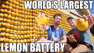 Lemon powered Supercar- WORLD'S LARGEST Lemon Battery by : Mark Rober