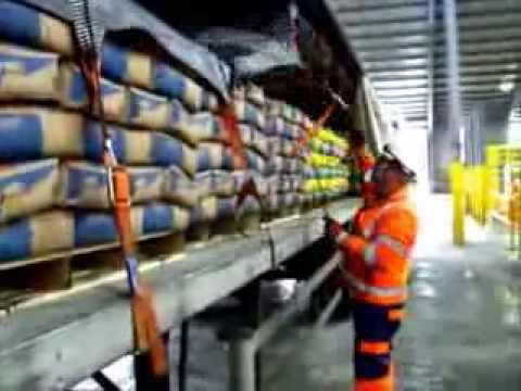Securing Lafarge Tarmac Cement Bags with FIX ROAD Cargo Secu