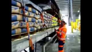 Securing Lafarge Tarmac Cement Bags with FIX ROAD Cargo Securing System