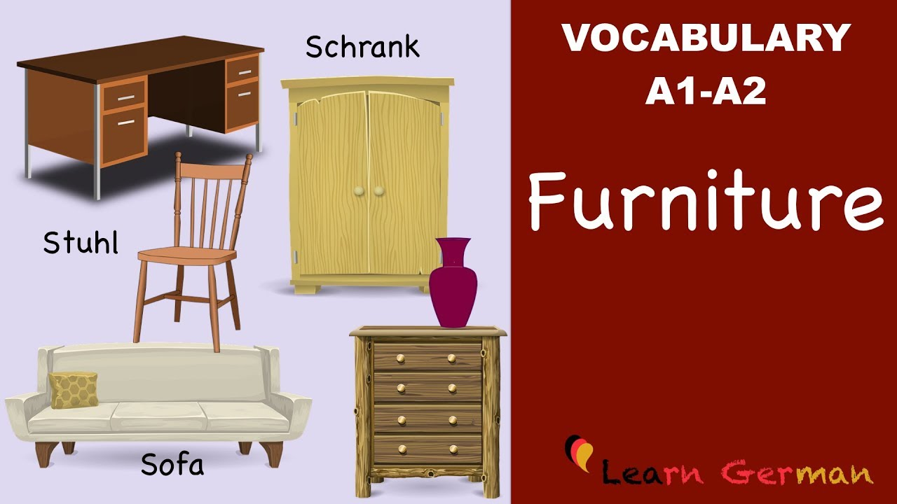 Das Germanvocabulary Learn A1 Furniture Youtube Mobel Cl4rq5aj3