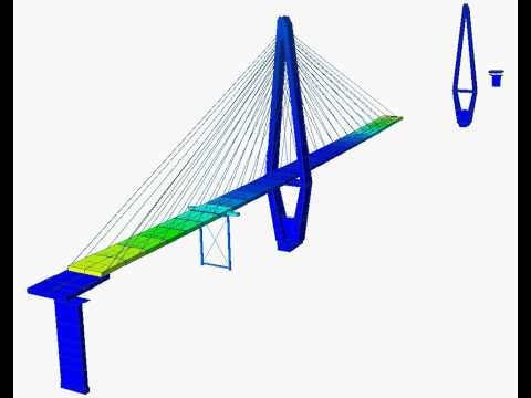 Construction stage analysis of cable stayed bridge 1