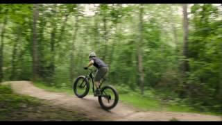 Framed Full Suspension Fat Bike Hits Air Bear Trail