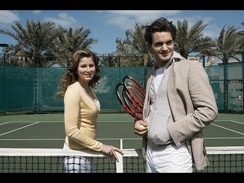 Roger and Mirka Federer playing tennis in 2002 - Ful match +