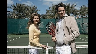 Roger and Mirka Federer playing tennis in 2002 - Ful match + Interview