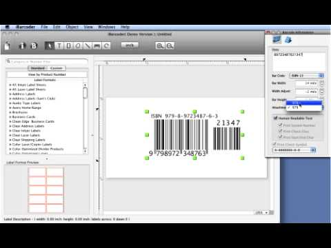 How to make mac ISBN barcode using Cristallight mac barcode generator