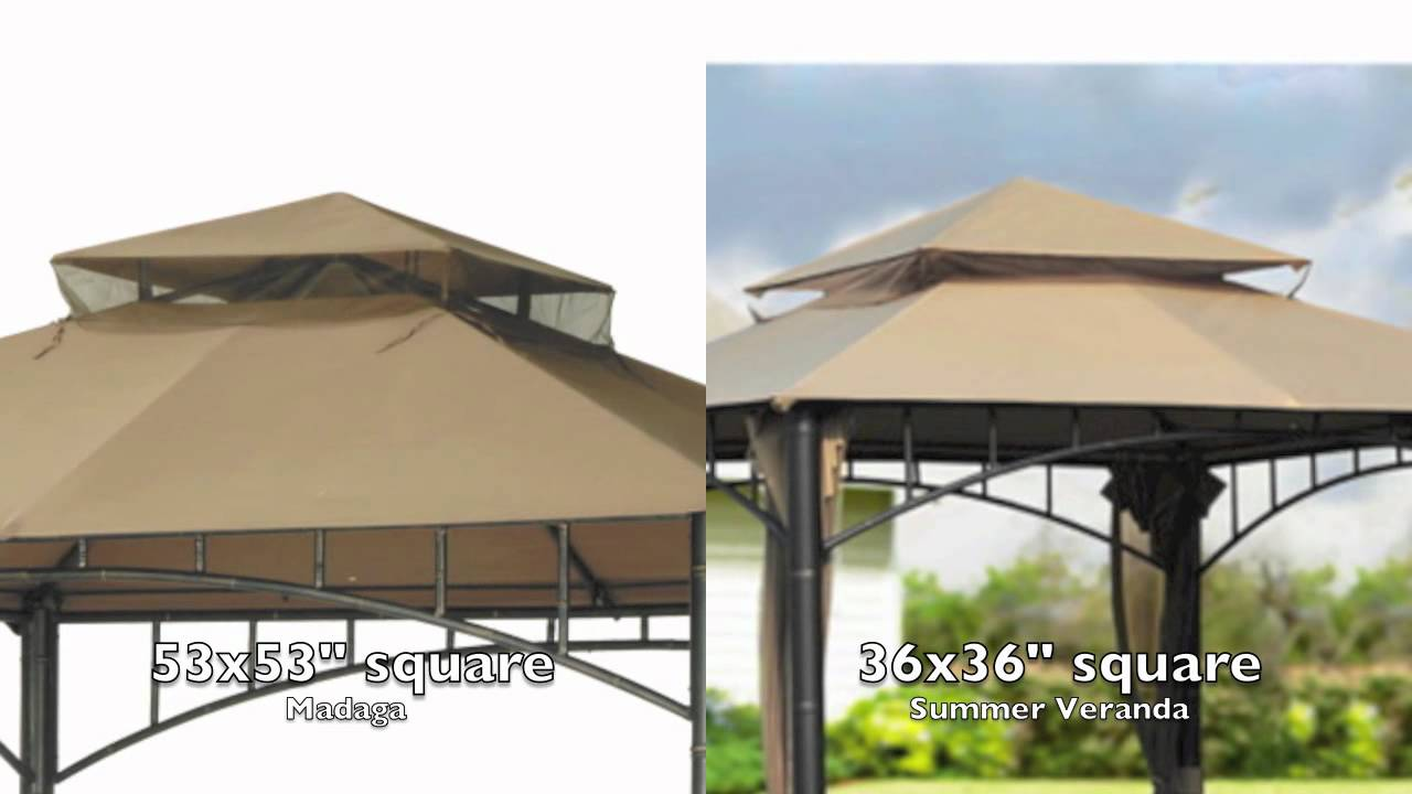 Target Madaga Gazebo Replacement Canopy Youtube