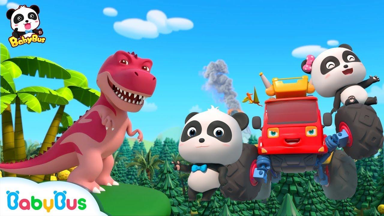 Baby Panda's Dinosaur World Trip   Dinosaur Song   T-Rex   Nursery Rhymes   Kids Songs   BabyBu