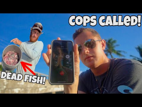 ANGRY GUY DUMPS DEAD FISH ON ME While FISHING!!! (COPS CALLED)
