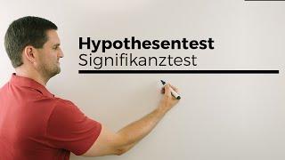Hypothesentest, Signifikanztest, Ablehnungsbereich mit TR bestimmen | Mathe by Daniel Jungn, M