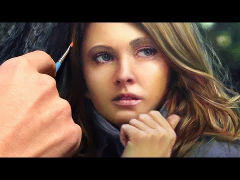 REALISTIC OIL PAINTING DEMO - portrait of a redheaded young woman by Isabelle Richard