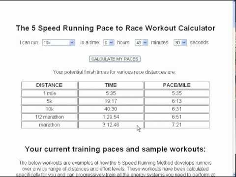Pace Calculator - YouTube