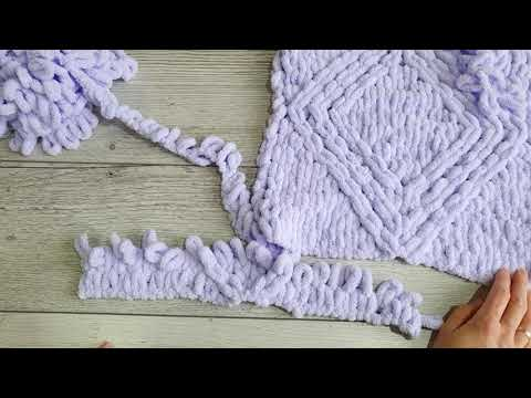 Подушка руками из Alize Puffy. Плюшевая подушка.