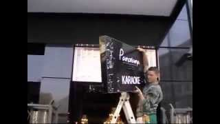 Изготовление световой вывески (лайтбокса) из черного акрила.Manufacturer of illuminated sign(, 2015-01-11T19:54:43.000Z)