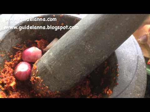 วิธีทำคั่วตำขนุน สูตรอาหารเหนือแต้ๆเจ้า How to make Jackfruit with curry paste