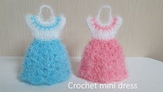 코바늘 수세미/ 초보용 원피스 수세미  Crochet …