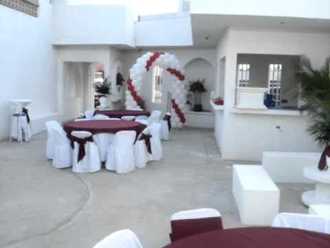 Salon de eventos cereza y oro blanco 1 youtube for Actividades de salon