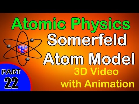 Sommerfeld Atom Model | Atomic Physics|class 12 physics subject notes lectures CBSE|IITJEE|NEET