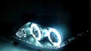 TOYOTA Corolla 2008 2009 CCFL Angel Eye Projector Headlight R8 Style Black