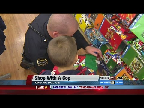 Omaha police take homeless children Christmas shopping