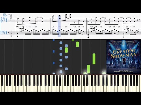 This Is Me (from The Greatest Showman Soundtrack) (Synthesia Piano Tutorial w/Lyrics)