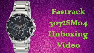 Fastrack NJ3072SM04 Chronograph Watch for men unboxing video.