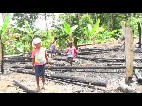 "West Papua refugees in Papua New Guinea - villages burnt down by operation ""Sunset Merona"""