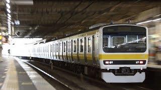 2018年 8月8日 立川駅にて 209系 C509編成 AT入場配給