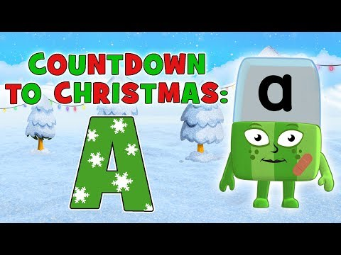 Alphablocks - Countdown to Christmas | The Letter A | Phonics for Kids