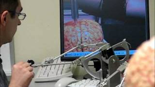 Simulated Haptic Telerobotic Brain Surgery