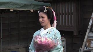 深田恭子の可愛すぎる、花柄に水色の着物姿!『超高速!参勤交代』クラ...
