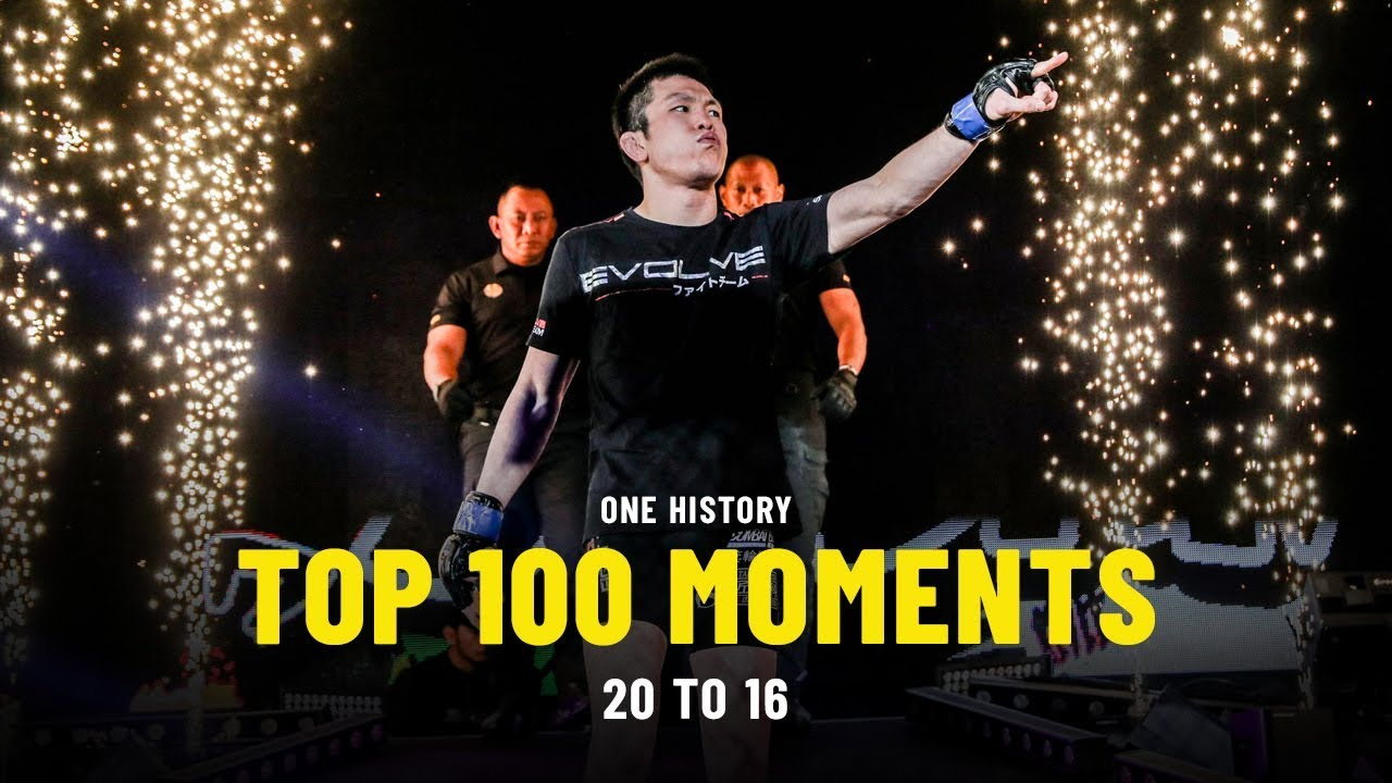 Top 100 Moments In ONE History | 20 To 16 | Ft. Shinya Aoki, Angela Lee, Aung La N Sang & More