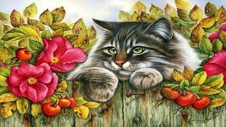 Коты в живописи Ирины Гармашовой