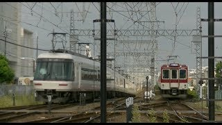 平日朝の近鉄南大阪線藤井寺駅(字幕入り)