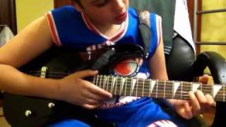 """Простая мелодия на гитаре """"дяденька фашист"""" видео урок"""