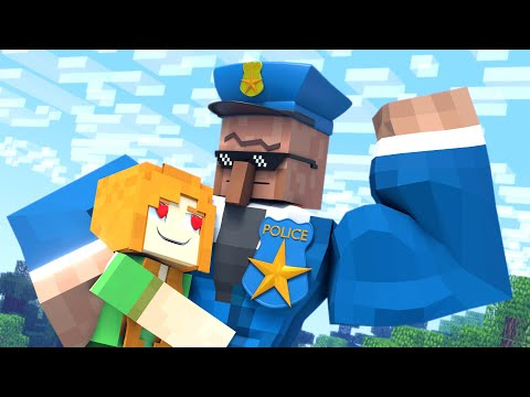 The Minecraft Life Of Alex And Villager : Police Story  - Minecraft Animation