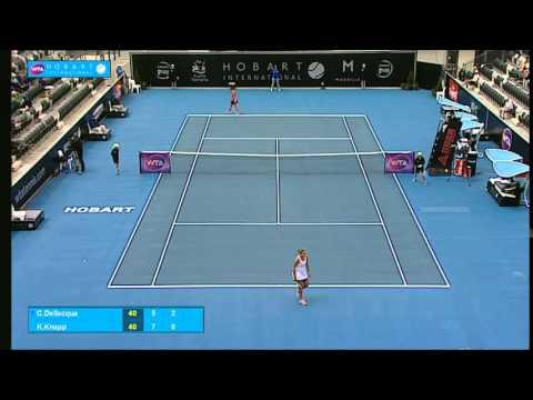Casey Dellacqua v Karin Knapp: Full-match replay (2R)- Hobart International 2015