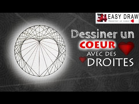 comment dessiner un coeur avec des droites youtube. Black Bedroom Furniture Sets. Home Design Ideas