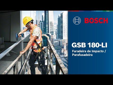 Furadeira de Impacto / Parafusadeira Bosch GSB 180-LI