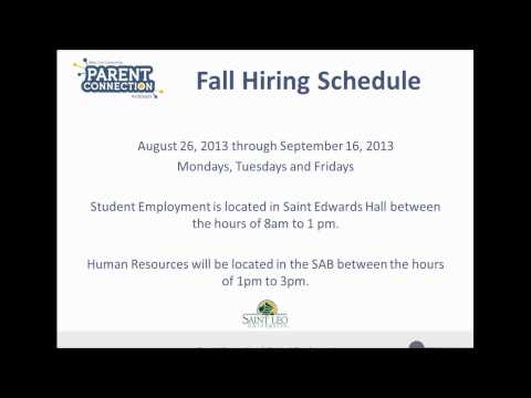 Student Employment on Campus