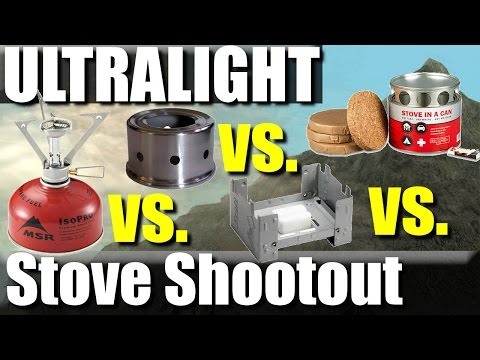 Ultralight Backpacking Stove Comparison: MSR vs. Alcohol vs. Esbit vs. Stove in a can